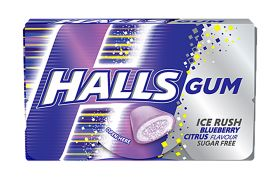 Halls Gum Blueberry Citrus 18g